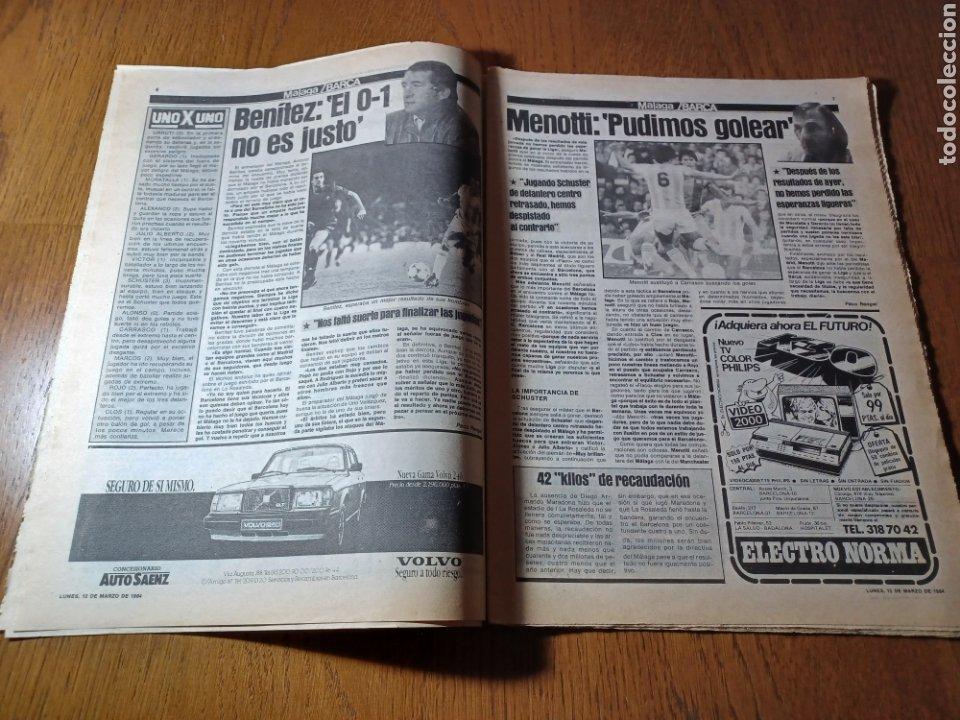 Coleccionismo deportivo: SPORT 12 MARZO 1984 MÁLAGA 0 BARCA1 . ¡ SCHUSTERAZO Y OLE , EN MÁLAGA!- EL MADRID PERDIÓ LA CABEZA. - Foto 4 - 253144575