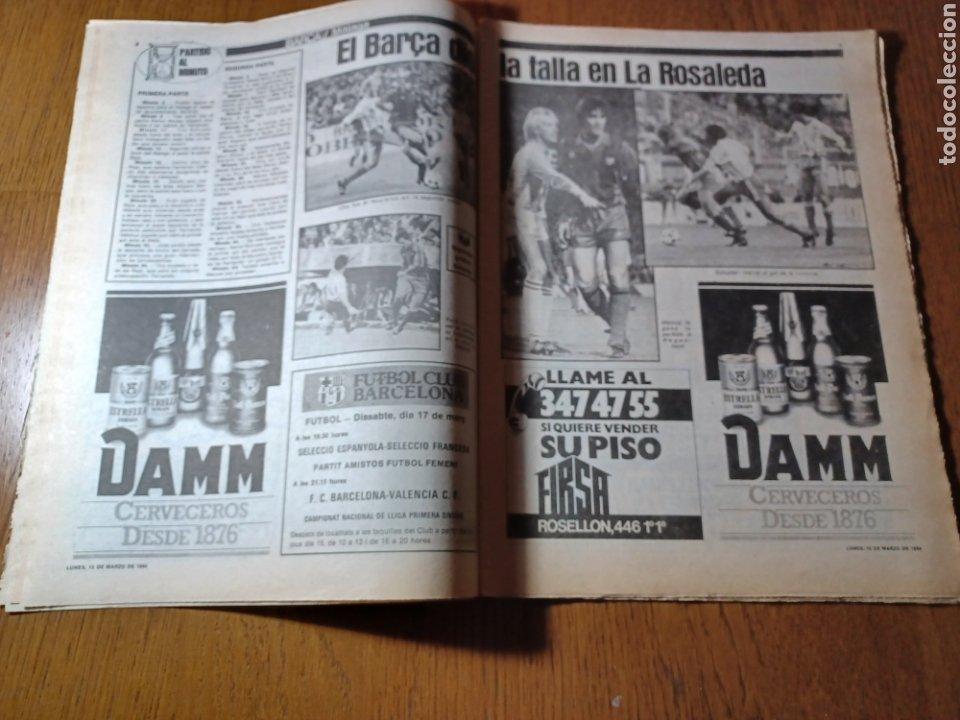 Coleccionismo deportivo: SPORT 12 MARZO 1984 MÁLAGA 0 BARCA1 . ¡ SCHUSTERAZO Y OLE , EN MÁLAGA!- EL MADRID PERDIÓ LA CABEZA. - Foto 5 - 253144575