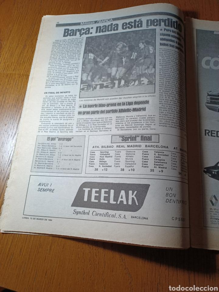 Coleccionismo deportivo: SPORT 12 MARZO 1984 MÁLAGA 0 BARCA1 . ¡ SCHUSTERAZO Y OLE , EN MÁLAGA!- EL MADRID PERDIÓ LA CABEZA. - Foto 7 - 253144575