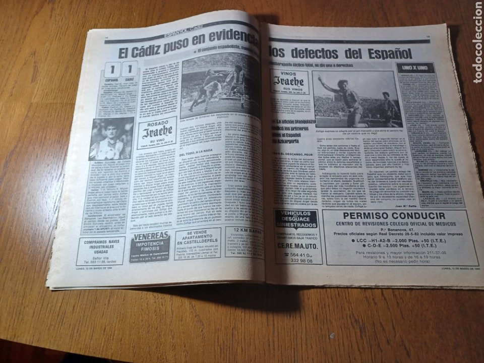 Coleccionismo deportivo: SPORT 12 MARZO 1984 MÁLAGA 0 BARCA1 . ¡ SCHUSTERAZO Y OLE , EN MÁLAGA!- EL MADRID PERDIÓ LA CABEZA. - Foto 8 - 253144575
