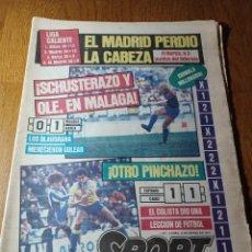 Coleccionismo deportivo: SPORT 12 MARZO 1984 MÁLAGA 0 BARCA1 . ¡ SCHUSTERAZO Y OLE , EN MÁLAGA!- EL MADRID PERDIÓ LA CABEZA.. Lote 253144575