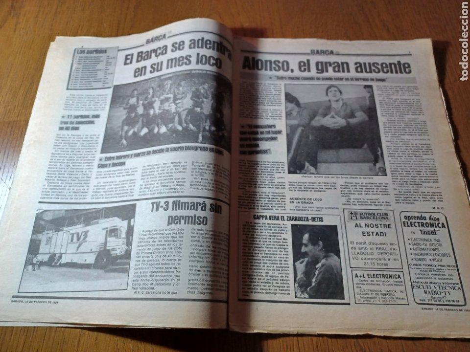 Coleccionismo deportivo: SPORT 17 FEBRERO 1984.¡ATAQUE GOLEADOR!. BARCA- VALLADOLID - Foto 5 - 253170680