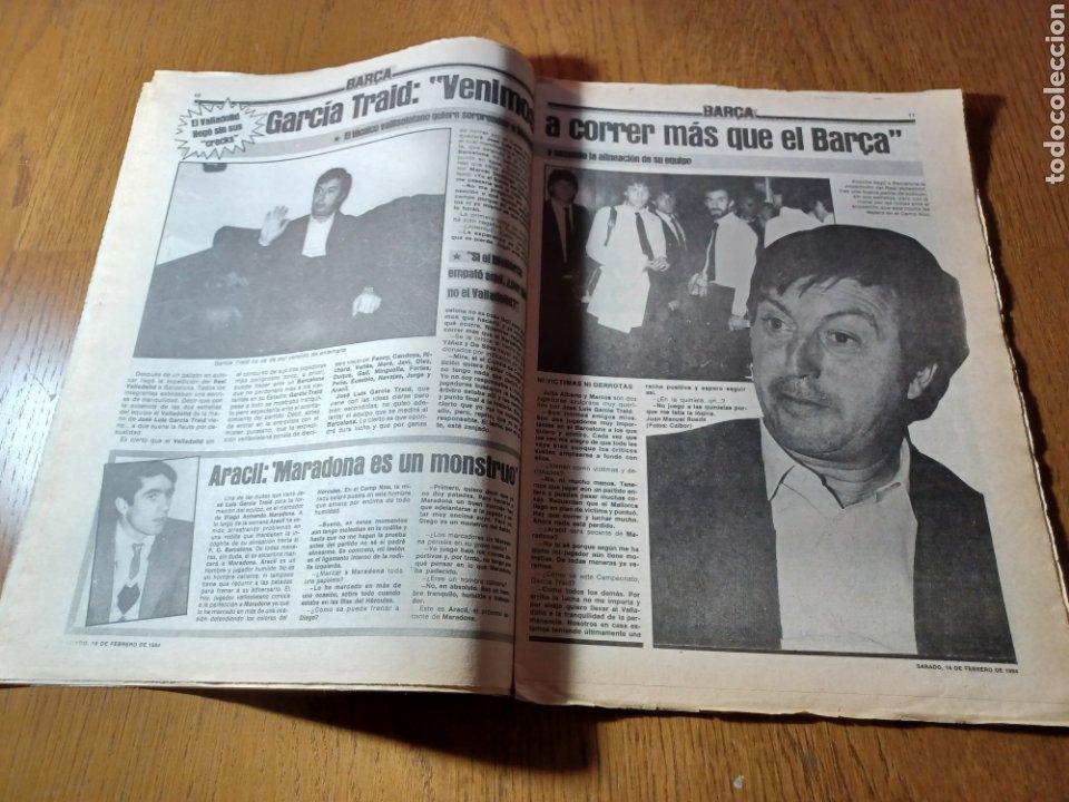 Coleccionismo deportivo: SPORT 17 FEBRERO 1984.¡ATAQUE GOLEADOR!. BARCA- VALLADOLID - Foto 6 - 253170680