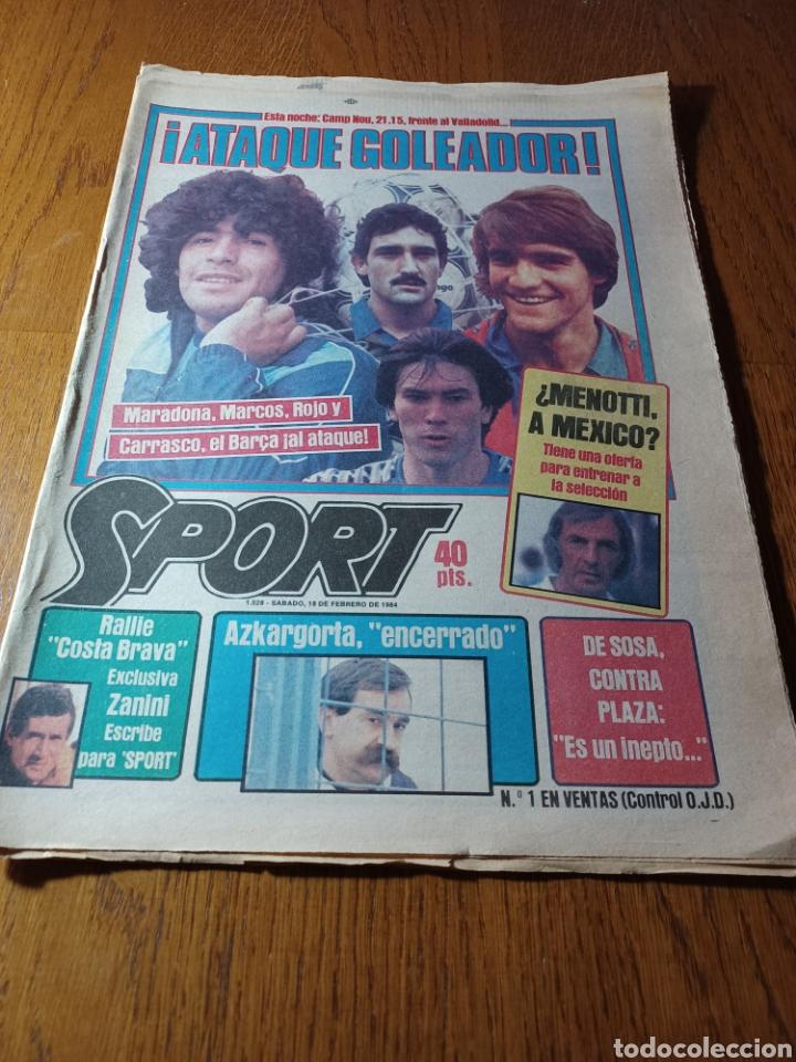 SPORT 17 FEBRERO 1984.¡ATAQUE GOLEADOR!. BARCA- VALLADOLID (Coleccionismo Deportivo - Revistas y Periódicos - Sport)