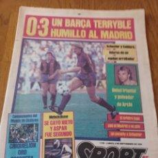 Coleccionismo deportivo: SPORT 3 SEPTIEMBRE 1984 0- 3 UN BARCA TERRYBLE HUMILLÓ AL MADRID- SE CAYÓ NIETO Y ASPAR FUE SEGUND. Lote 253257765