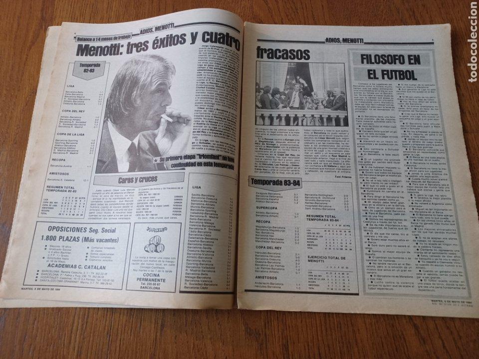 Coleccionismo deportivo: SPORT 8 MAYO 1984.ADIOS MENOTTI- BENNHAKER ACEPTARIA EL RETO. COLECCIONABLE DE AMBERES A LA EURO 84 - Foto 3 - 253263435