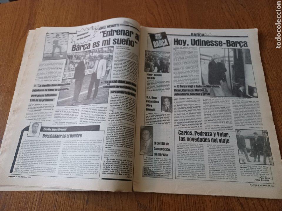 Coleccionismo deportivo: SPORT 8 MAYO 1984.ADIOS MENOTTI- BENNHAKER ACEPTARIA EL RETO. COLECCIONABLE DE AMBERES A LA EURO 84 - Foto 4 - 253263435