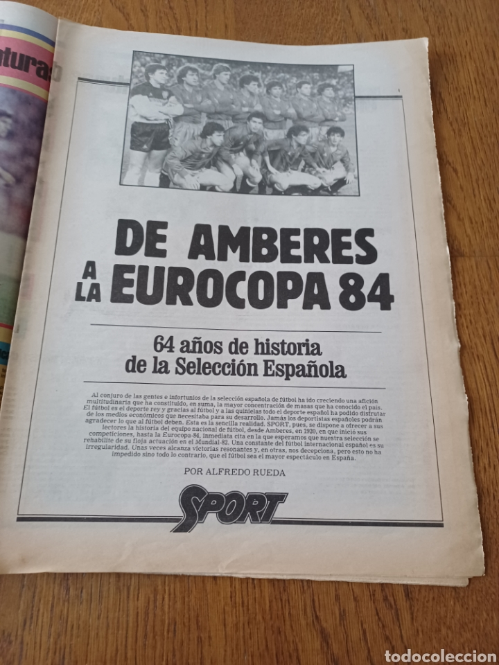 Coleccionismo deportivo: SPORT 8 MAYO 1984.ADIOS MENOTTI- BENNHAKER ACEPTARIA EL RETO. COLECCIONABLE DE AMBERES A LA EURO 84 - Foto 10 - 253263435