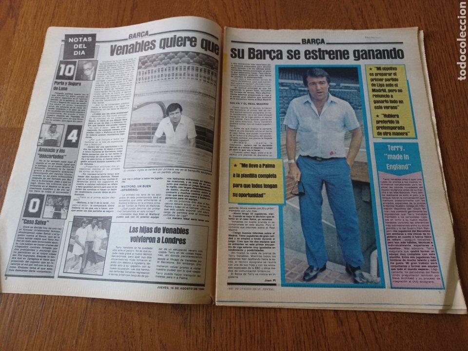 """Coleccionismo deportivo: SPORT 16 AGOSTO 1984. LA HORA FRADERA - """"MOVIDA"""" EN EL MADRID JUANITO, GALLEGO Y BUTRAGUENO. K.O. - Foto 2 - 253271715"""