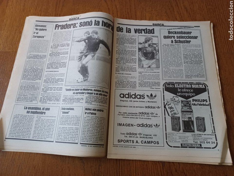 """Coleccionismo deportivo: SPORT 16 AGOSTO 1984. LA HORA FRADERA - """"MOVIDA"""" EN EL MADRID JUANITO, GALLEGO Y BUTRAGUENO. K.O. - Foto 4 - 253271715"""