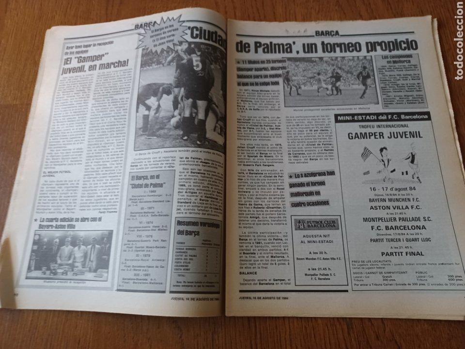 """Coleccionismo deportivo: SPORT 16 AGOSTO 1984. LA HORA FRADERA - """"MOVIDA"""" EN EL MADRID JUANITO, GALLEGO Y BUTRAGUENO. K.O. - Foto 6 - 253271715"""