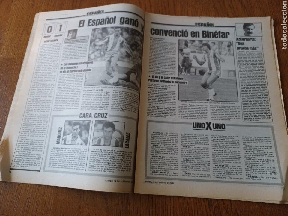 """Coleccionismo deportivo: SPORT 16 AGOSTO 1984. LA HORA FRADERA - """"MOVIDA"""" EN EL MADRID JUANITO, GALLEGO Y BUTRAGUENO. K.O. - Foto 7 - 253271715"""