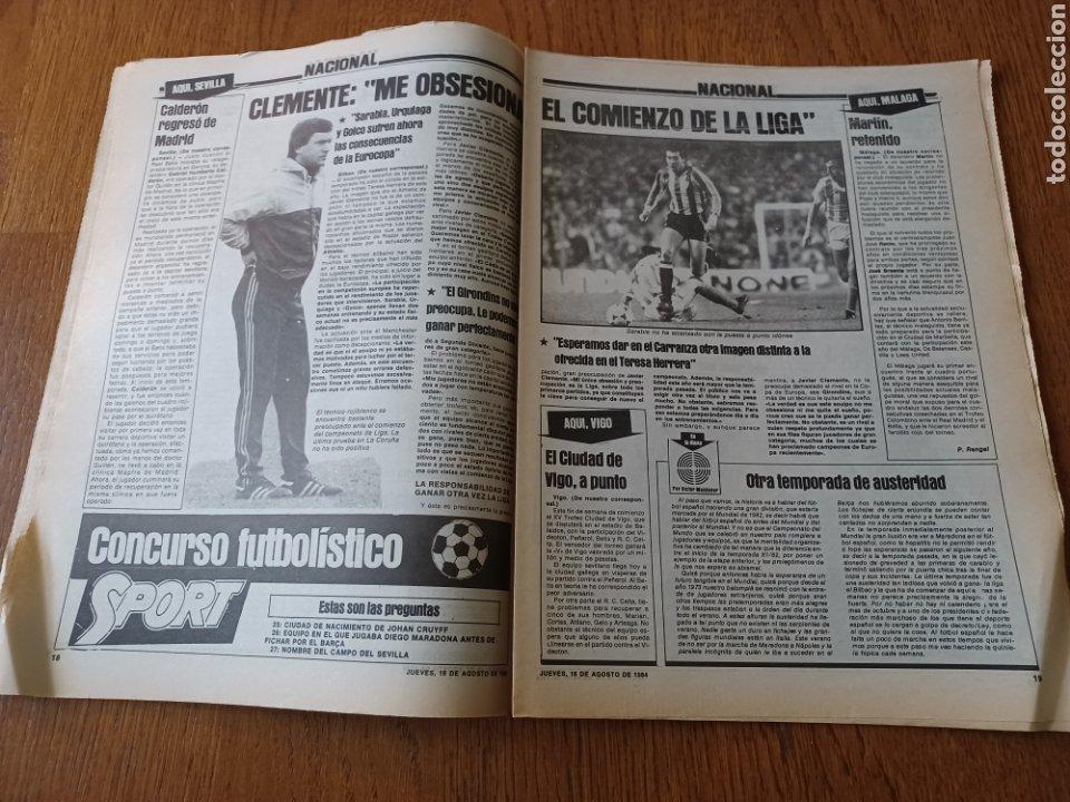 """Coleccionismo deportivo: SPORT 16 AGOSTO 1984. LA HORA FRADERA - """"MOVIDA"""" EN EL MADRID JUANITO, GALLEGO Y BUTRAGUENO. K.O. - Foto 8 - 253271715"""