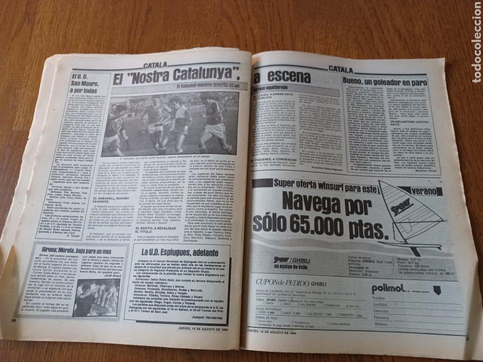 """Coleccionismo deportivo: SPORT 16 AGOSTO 1984. LA HORA FRADERA - """"MOVIDA"""" EN EL MADRID JUANITO, GALLEGO Y BUTRAGUENO. K.O. - Foto 11 - 253271715"""