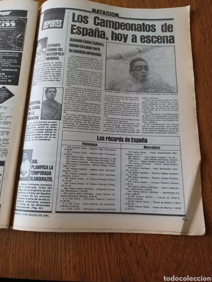 """Coleccionismo deportivo: SPORT 16 AGOSTO 1984. LA HORA FRADERA - """"MOVIDA"""" EN EL MADRID JUANITO, GALLEGO Y BUTRAGUENO. K.O. - Foto 13 - 253271715"""