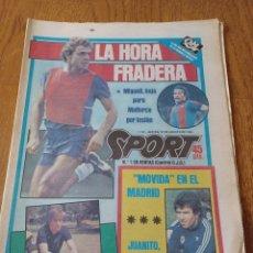 """Coleccionismo deportivo: SPORT 16 AGOSTO 1984. LA HORA FRADERA - """"MOVIDA"""" EN EL MADRID JUANITO, GALLEGO Y BUTRAGUENO. K.O.. Lote 253271715"""