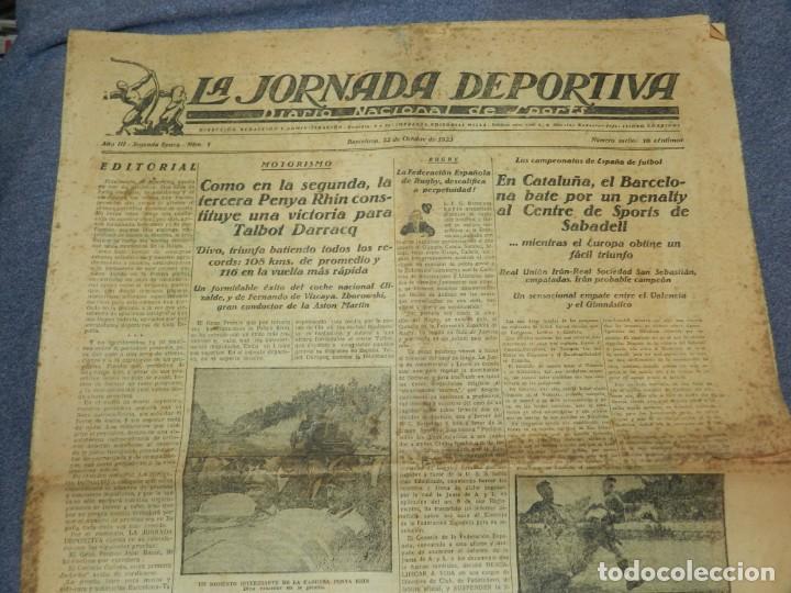 (M) LA JORNADA DEPORTIVA N.1 AÑO 1923 PENYA RHIN, BARCELONA CONTRA SPORTS DE SABADELL (Coleccionismo Deportivo - Revistas y Periódicos - La Jornada Deportiva)