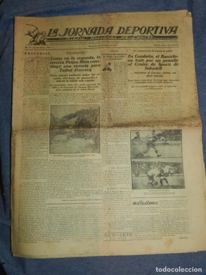 Coleccionismo deportivo: (M) LA JORNADA DEPORTIVA N.1 AÑO 1923 PENYA RHIN, BARCELONA CONTRA SPORTS DE SABADELL - Foto 2 - 253279480