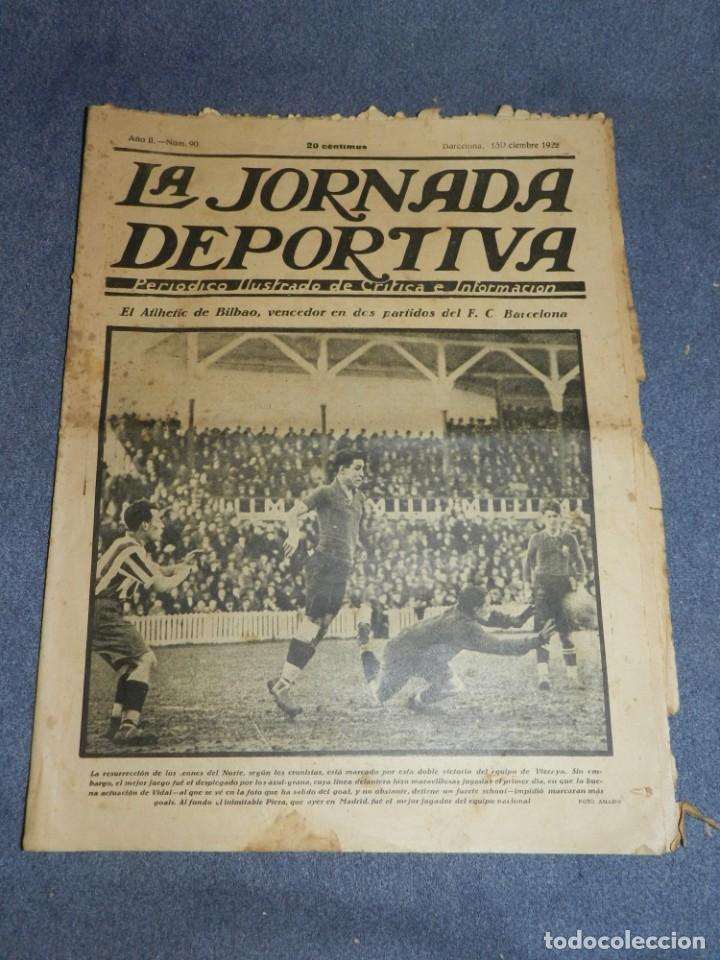 (M) LA JORNADA DEPORTIVA N.90 AÑO 1922 ATHLETIC DE BILBAO VENCE AL FC BARCELONA (Coleccionismo Deportivo - Revistas y Periódicos - La Jornada Deportiva)