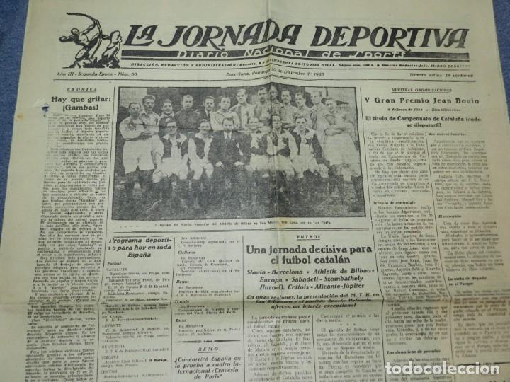 (M) LA JORNADA DEPORTIVA N.60 AÑO 1923 EQUIPO DE SLAVIA, VENCEDOR DEL ATHLETIC DE BILBAO (Coleccionismo Deportivo - Revistas y Periódicos - La Jornada Deportiva)