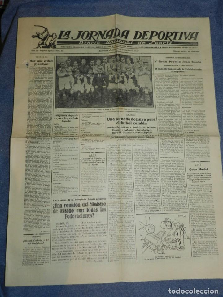 Coleccionismo deportivo: (M) LA JORNADA DEPORTIVA N.60 AÑO 1923 EQUIPO DE SLAVIA, VENCEDOR DEL ATHLETIC DE BILBAO - Foto 2 - 253279795