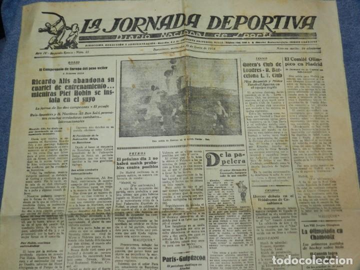 (M) LA JORNADA DEPORTIVA N.25 AÑO 1924 QUEEN'S CLUB DE LONDRES - FC BARCELONA, BOXEO RICARDO ALÍS (Coleccionismo Deportivo - Revistas y Periódicos - La Jornada Deportiva)
