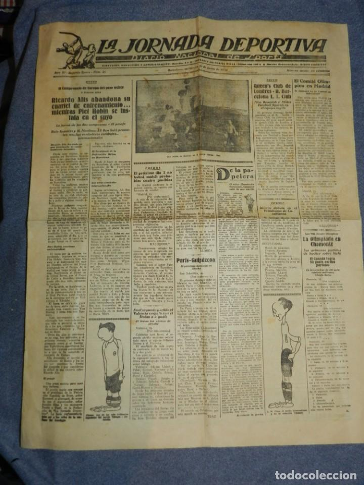 Coleccionismo deportivo: (M) LA JORNADA DEPORTIVA N.25 AÑO 1924 QUEENS CLUB DE LONDRES - FC BARCELONA, BOXEO RICARDO ALÍS - Foto 2 - 253279985