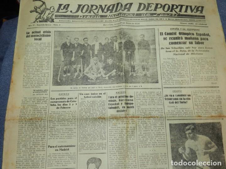 (M) LA JORNADA DEPORTIVA N.8 AÑO 1924 BOXEO - PUEDE SER RICARDO ALÍS CHALLENGER DEL MUNDO? (Coleccionismo Deportivo - Revistas y Periódicos - La Jornada Deportiva)