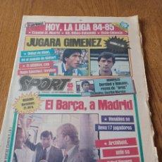 Collezionismo sportivo: SPORT 1 SEPT 1984 .HOY LIGA 84-85 .EL BARCA, A MADRID. COLECCIONABLE SPORT N. 13 LIGA 84-85 BILBAO. Lote 253443215