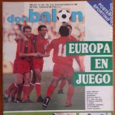 Coleccionismo deportivo: DE KIOSKO! DON BALÓN Nº 674. SEPTIEMBRE DE 1988. EUROPA EN JUEGO. POSTER DEL SPORTING. Lote 253536805