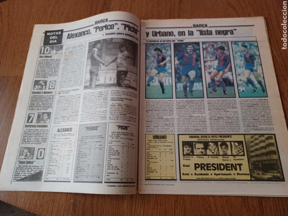 "Coleccionismo deportivo: SPORT 3 AGOSTO 1984 ¡ LISTA NEGRA!. "" MARADONA NO SE CUIDA NADA "". MARIN OLIMPIADA. - Foto 2 - 253547895"