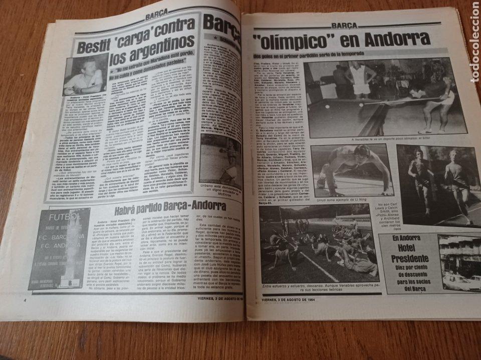 "Coleccionismo deportivo: SPORT 3 AGOSTO 1984 ¡ LISTA NEGRA!. "" MARADONA NO SE CUIDA NADA "". MARIN OLIMPIADA. - Foto 3 - 253547895"