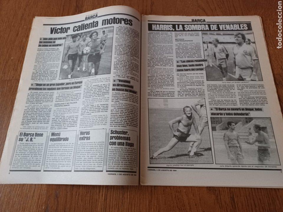 "Coleccionismo deportivo: SPORT 3 AGOSTO 1984 ¡ LISTA NEGRA!. "" MARADONA NO SE CUIDA NADA "". MARIN OLIMPIADA. - Foto 4 - 253547895"