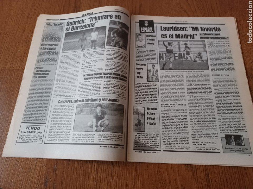 "Coleccionismo deportivo: SPORT 3 AGOSTO 1984 ¡ LISTA NEGRA!. "" MARADONA NO SE CUIDA NADA "". MARIN OLIMPIADA. - Foto 5 - 253547895"