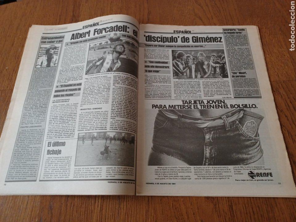 "Coleccionismo deportivo: SPORT 3 AGOSTO 1984 ¡ LISTA NEGRA!. "" MARADONA NO SE CUIDA NADA "". MARIN OLIMPIADA. - Foto 6 - 253547895"