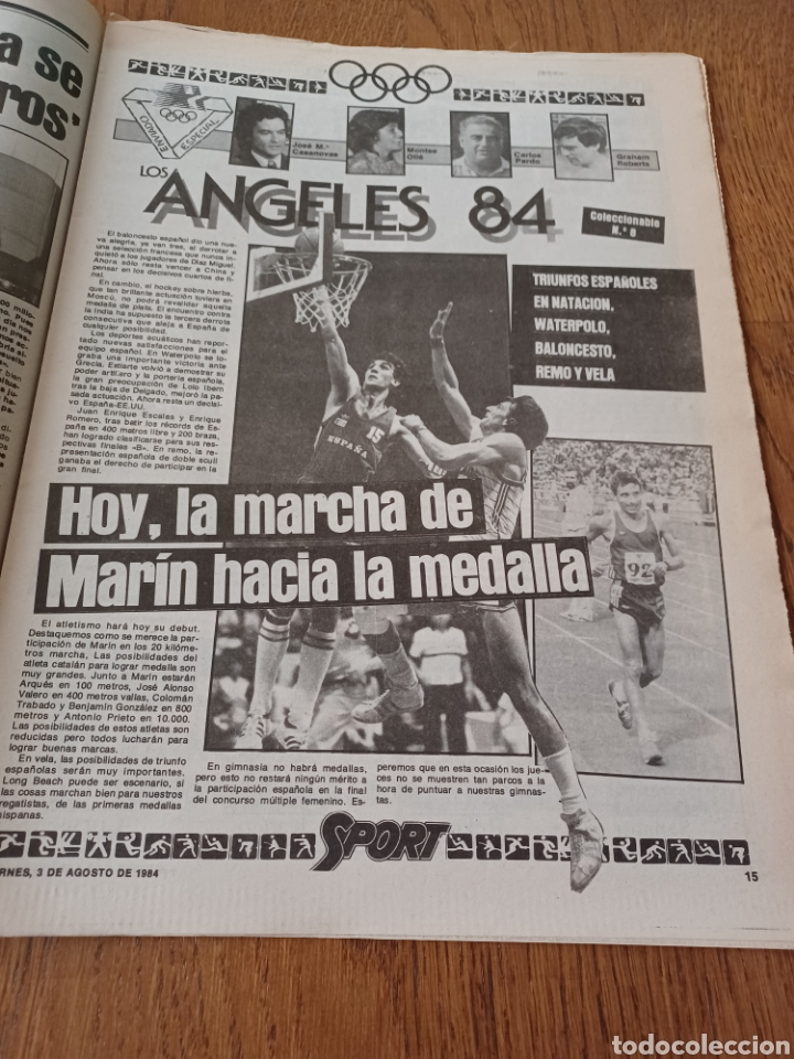 "Coleccionismo deportivo: SPORT 3 AGOSTO 1984 ¡ LISTA NEGRA!. "" MARADONA NO SE CUIDA NADA "". MARIN OLIMPIADA. - Foto 8 - 253547895"