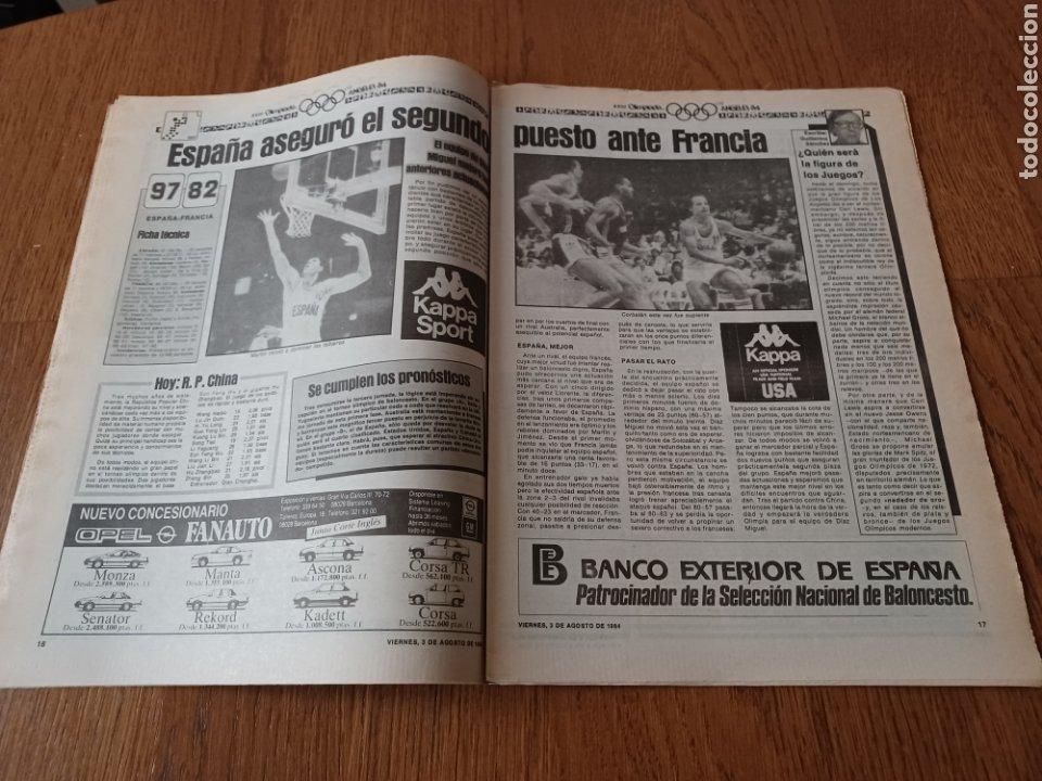 "Coleccionismo deportivo: SPORT 3 AGOSTO 1984 ¡ LISTA NEGRA!. "" MARADONA NO SE CUIDA NADA "". MARIN OLIMPIADA. - Foto 9 - 253547895"