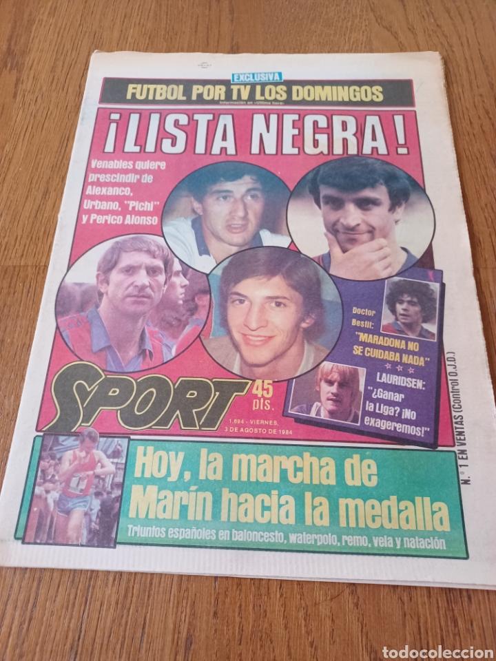 """SPORT 3 AGOSTO 1984 ¡ LISTA NEGRA!. """" MARADONA NO SE CUIDA NADA """". MARIN OLIMPIADA. (Coleccionismo Deportivo - Revistas y Periódicos - Sport)"""
