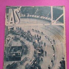 Coleccionismo deportivo: PERIODICO AS Nº 45 1933 IX PORTUGAL-ESPAÑA - COPA 33 - CICLISMO GIRO ITALIA - SEIS DIAS PARIS. Lote 253619835