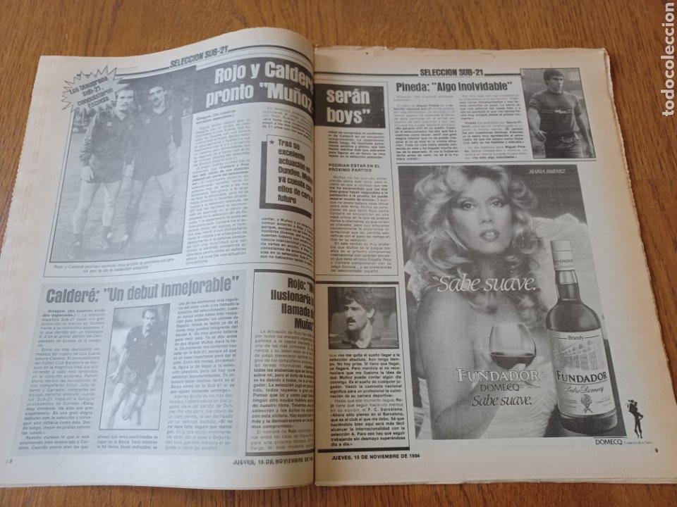 Coleccionismo deportivo: SPORT 15 NOVIEMBRE 1984. ESCOCIA 3 ESPAÑA 1 ¡ QUÉ BAÑO! .ARKONADA Y VÍCTOR, LOS MEJORES. URQUIAGA. - Foto 5 - 253825260