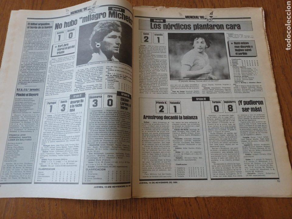 Coleccionismo deportivo: SPORT 15 NOVIEMBRE 1984. ESCOCIA 3 ESPAÑA 1 ¡ QUÉ BAÑO! .ARKONADA Y VÍCTOR, LOS MEJORES. URQUIAGA. - Foto 6 - 253825260