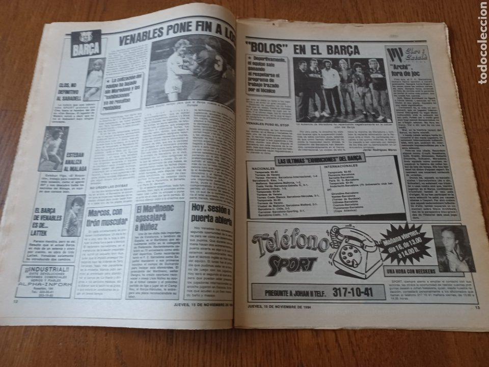 Coleccionismo deportivo: SPORT 15 NOVIEMBRE 1984. ESCOCIA 3 ESPAÑA 1 ¡ QUÉ BAÑO! .ARKONADA Y VÍCTOR, LOS MEJORES. URQUIAGA. - Foto 7 - 253825260