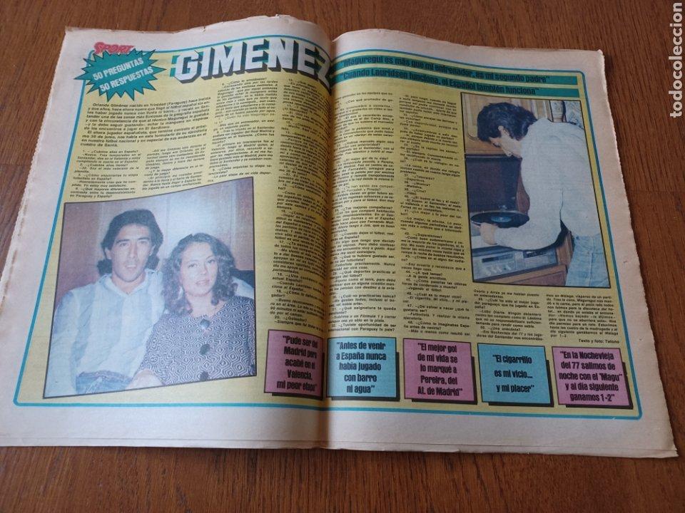Coleccionismo deportivo: SPORT 15 NOVIEMBRE 1984. ESCOCIA 3 ESPAÑA 1 ¡ QUÉ BAÑO! .ARKONADA Y VÍCTOR, LOS MEJORES. URQUIAGA. - Foto 8 - 253825260