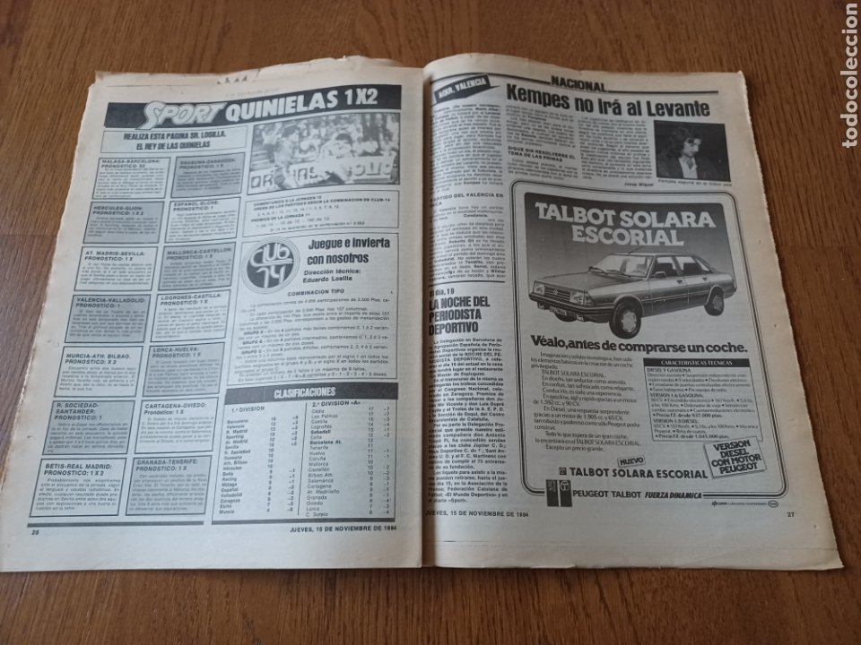 Coleccionismo deportivo: SPORT 15 NOVIEMBRE 1984. ESCOCIA 3 ESPAÑA 1 ¡ QUÉ BAÑO! .ARKONADA Y VÍCTOR, LOS MEJORES. URQUIAGA. - Foto 9 - 253825260