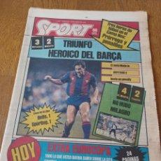 Coleccionismo deportivo: SPORT 10 JUNIO 1984. BARCELONA 3 MALLORCA 2 AT.MADRID 4 ESPAÑOL 2 EXTRA EUROCOPA 24 PAGINAS.. Lote 253826405