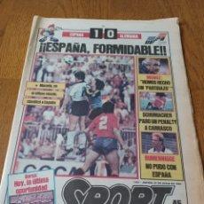 Colecionismo desportivo: SPORT 21 JUNIO 1984.ESPAÑA 1 ALEMANIA 0 ¡¡ ESPAÑA FORMIDABLE!!.. Lote 253848160