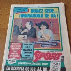 Collezionismo sportivo: SPORT 1 JULIO 1984. NÚÑEZ CEDE.... ¡ MARADONA SE VA !. COPA DE LA LIGA .3-0 .VALLADOLID CAMPEÓN.. Lote 253849875