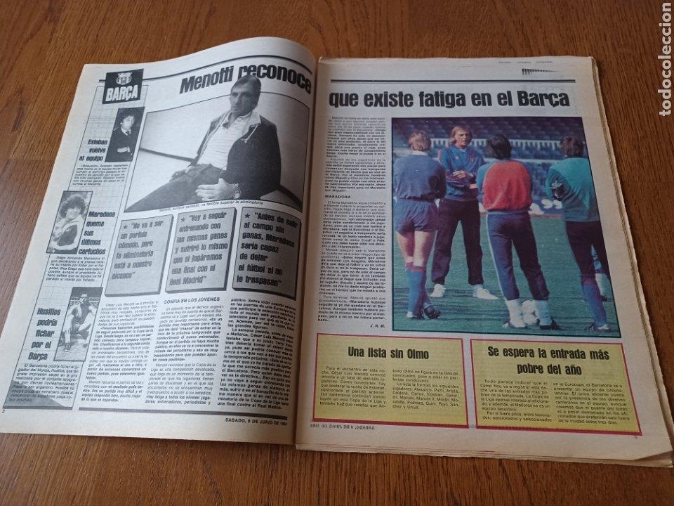 Coleccionismo deportivo: SPORT 9 JUNIO 1984.COPA DE LA LIGA. BARCA- MALLORCA MARADONA JUEGA SUS ÚLTIMAS CARTAS . ARKONADA - Foto 2 - 253855720
