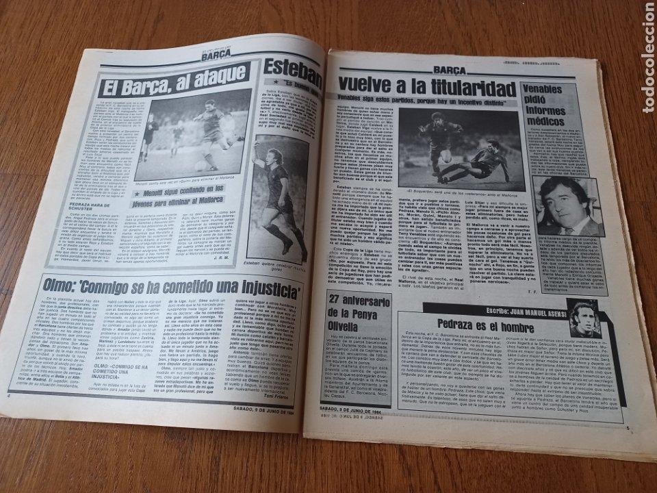 Coleccionismo deportivo: SPORT 9 JUNIO 1984.COPA DE LA LIGA. BARCA- MALLORCA MARADONA JUEGA SUS ÚLTIMAS CARTAS . ARKONADA - Foto 3 - 253855720