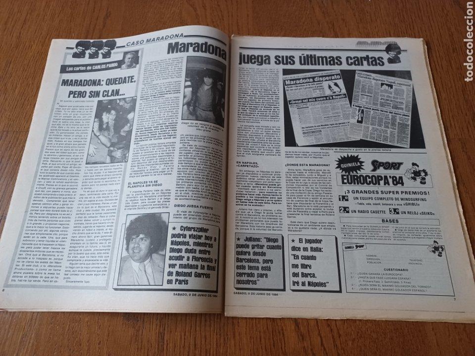 Coleccionismo deportivo: SPORT 9 JUNIO 1984.COPA DE LA LIGA. BARCA- MALLORCA MARADONA JUEGA SUS ÚLTIMAS CARTAS . ARKONADA - Foto 4 - 253855720
